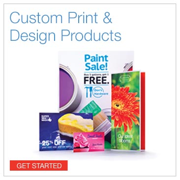 Custom print design products. Click to get started.