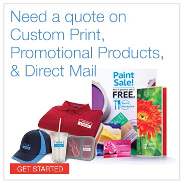 Need a quote on custom print, promotional products and direct mail. Click to get started.
